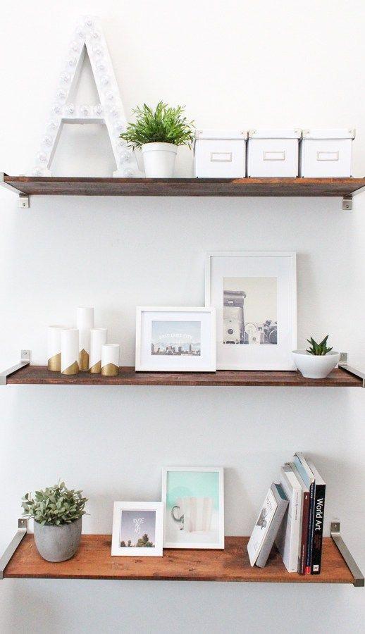 Сделай сам ИКЕА взломать потертой деревянной полки - сахар и ткани - поделки - Хьюстон блогер - Домашний Декор