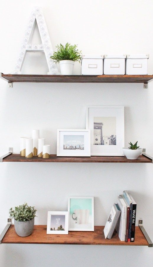 DIY Ikea Hack Distressed Wooden Shelves