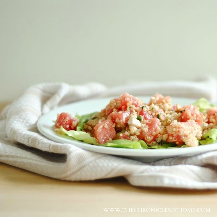 The Chronicles of Home: Quinoa Salad with Watermelon, Feta, and Basil