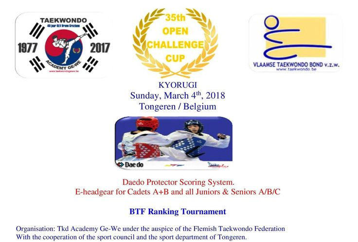 Open Challenge Cup Poomsae & Kyorugi 2018
