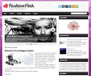 Adnan Güney: Blogger FashionPink Şablonu