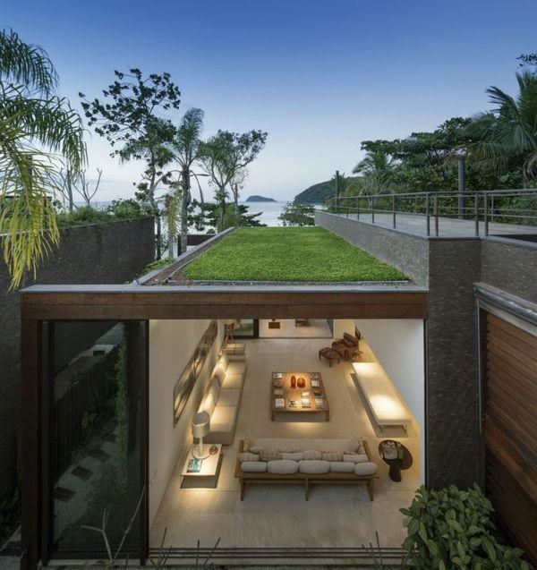25 best ideas about toit vegetal on pinterest toit de for Plan maison moderne toit plat plain pied