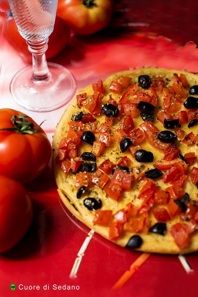 Farinata di ceci con pomodoro - Cuore di Sedano