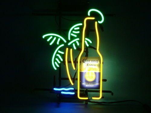 ME012 CORONA EXTRA PALM TREE COLA MILLER MASEI HELMET BEER BAR NEON LIGHT SIGN #CoronaExtraMillerLiteBudweiser