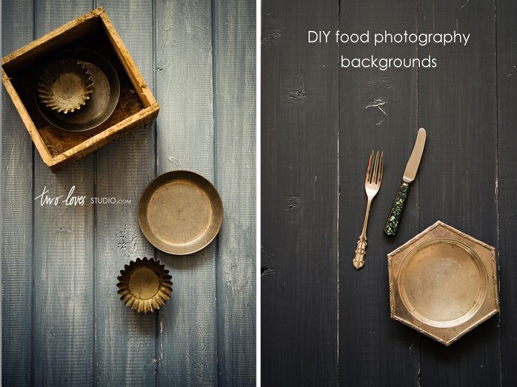 DIY Food Photography Backgrounds - with Two No Fuss Painting Techniques