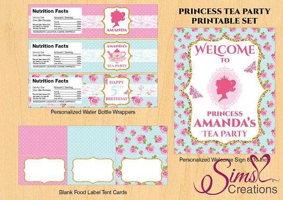 Princess Tea Party Invitation Princess Tea Party Decorations - tea party invitation