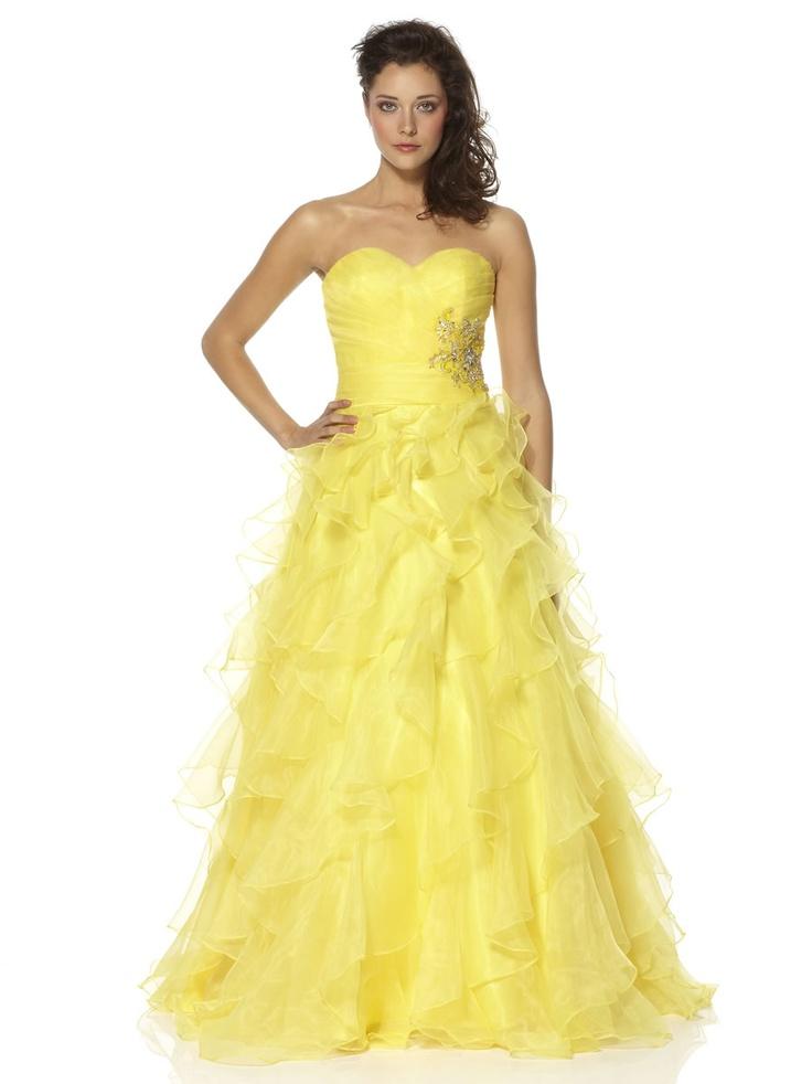 Yellow Prom Dress by Dynasty Yasmin
