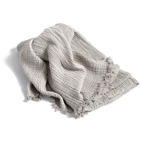 HAY Crinkle Throw - Silver (6.220 RUB) ❤ liked on Polyvore featuring home, bed & bath, bedding, blankets, decor and crinkle blanket