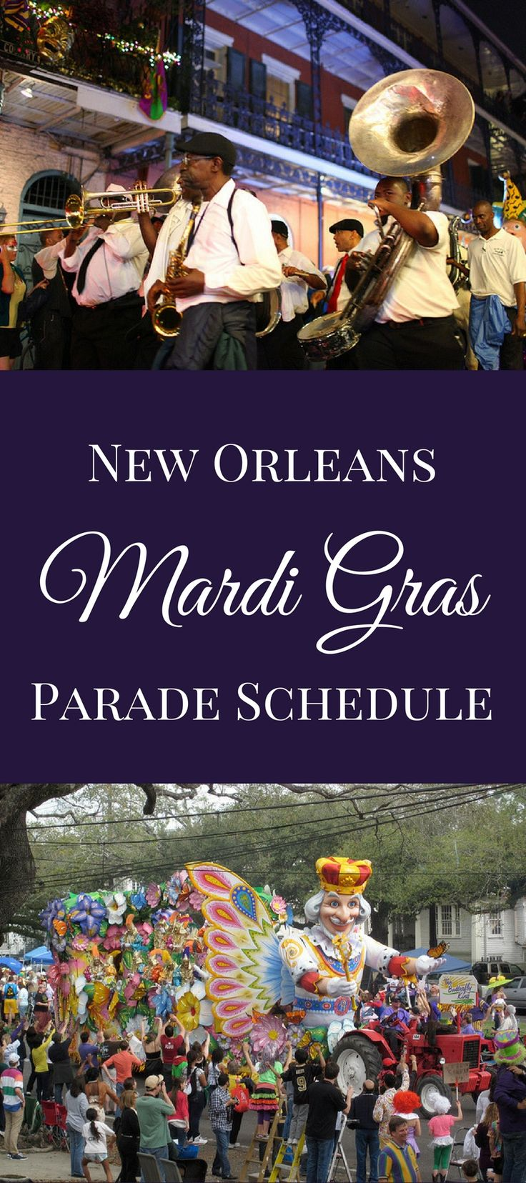We've put together a Mardi Gras parade schedule for the whole season for parades rolling in Uptown New Orleans and the French Quarter. Take a look!