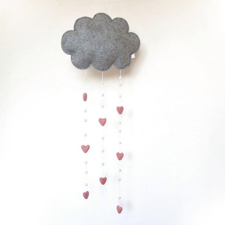 Wolkenmobiel, Wolkenhanger, Roze Wolk, Muurmobiel, Wolken Mobile, Wolkmobiel, Wolkhanger, babykamer mobiel, kinderkamer wolk, babykamer wolk door LilyRazz op Etsy https://www.etsy.com/nl/listing/239114303/wolkenmobiel-wolkenhanger-roze-wolk