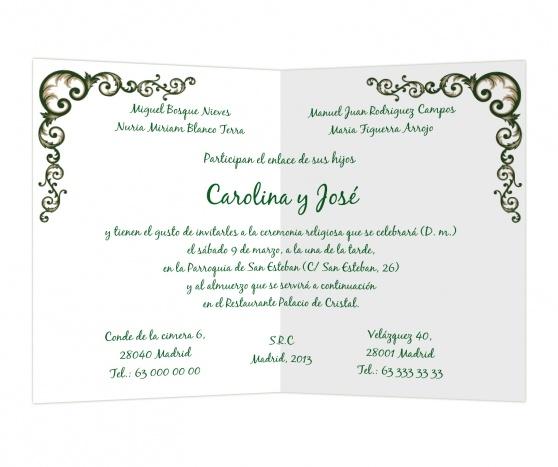 Yedra #invitaciones #boda