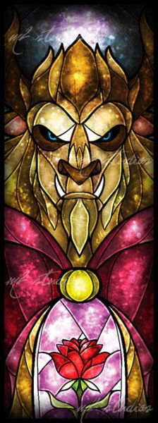 Beast Stained Glass Window