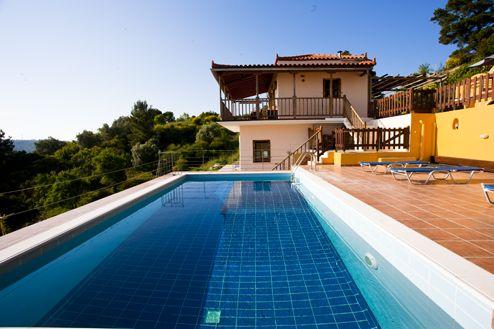 Villa and pool.