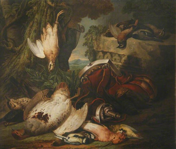 Still Life of Game Birds with a Powder Flask in Landscape  David de Coninck (1636–1699) (follower of)  National Trust, Hartwell House