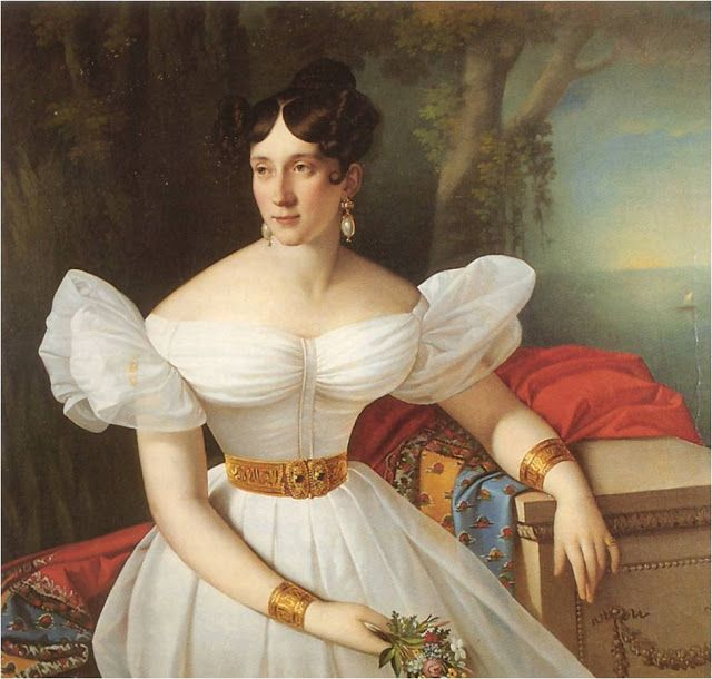 Giuseppe Tominz Portrait of Giuseppina Holzknecht Oil on canvas 1830-32
