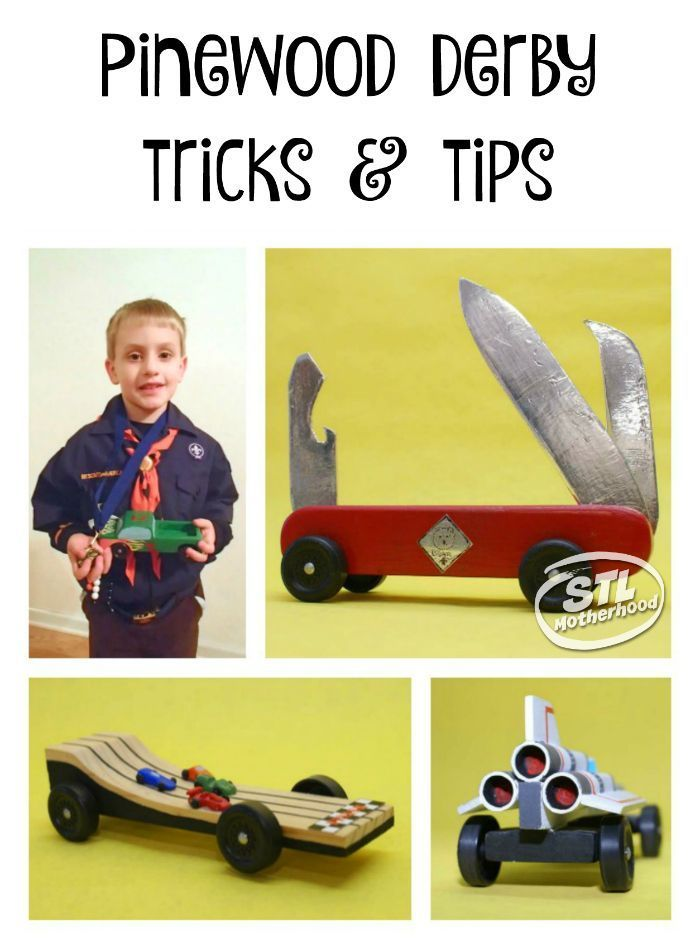 Awesome Pinewood Derby tips and tricks for your Cub Scout to make a car that's cool AND fast!