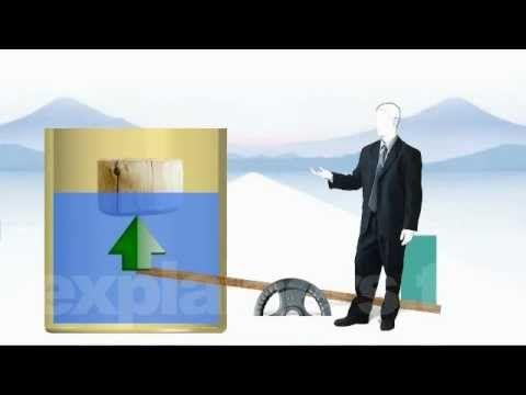 El principio de Arquimedes en 60 segundos.