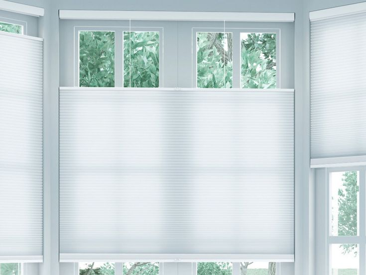 No cords, no problems! These top down bottom up honeycomb shades are an awesome alternative to traditional corded blinds. And cordless is the only solution for child and pet safety.