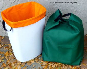 Reusable Kitchen Trash Can Liner / Washable by moocowmomma on Etsy