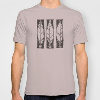 Ethnic Feathers T-shirt by Nameless Shame - $22.00