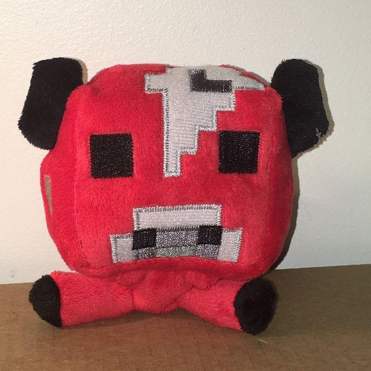 "Official Minecraft Overworld Figure 6"" Plush Red Mushroom Cow Toy Mojang 2014  #Mojang"