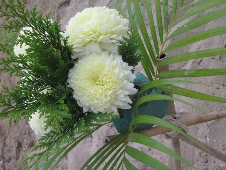 Beach Wedding Flowers-Photos by Tina Winterlik © 2012