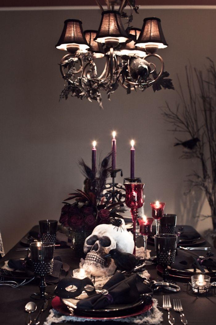 1001 Exemples D Une Decoration Halloween Elegante Et Stylee Decoration Halloween Deco De Table Halloween Deco Halloween Maison
