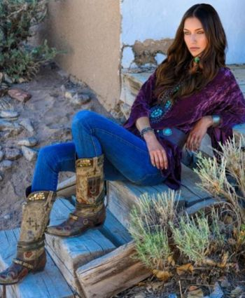 Brands :: Double D Ranch :: DOUBLE D RANCH FALL 2013 TURQUOISE WORLD VELVET TOP - Native American Jewelry|Ladies Western Wear|Double D Ranch...