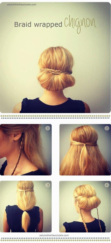 """Peinado """"fácil"""" para la oficina. Trabajar. Easy work hair."""
