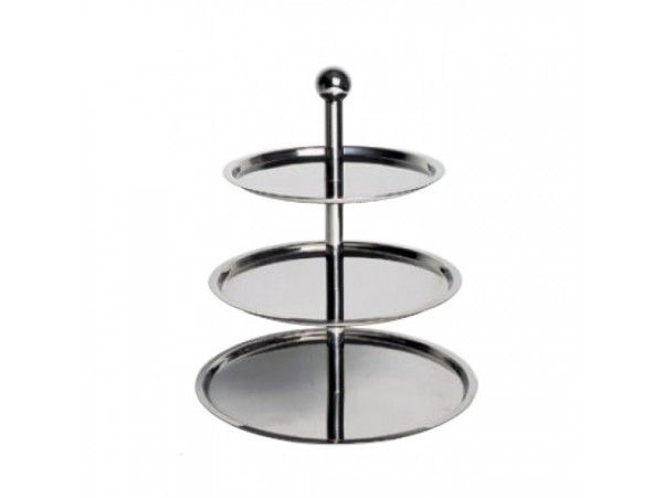 Looking out for something to display your delicious cup cakes or cakes of different flavours? Here is something that will fulfill your need. A three layered cake stand which is made of Chrome Nickel Steel and is of high quality. http://www.hotelsupplymart.com/…/Banquet-…/Cake-Stand-3Stage