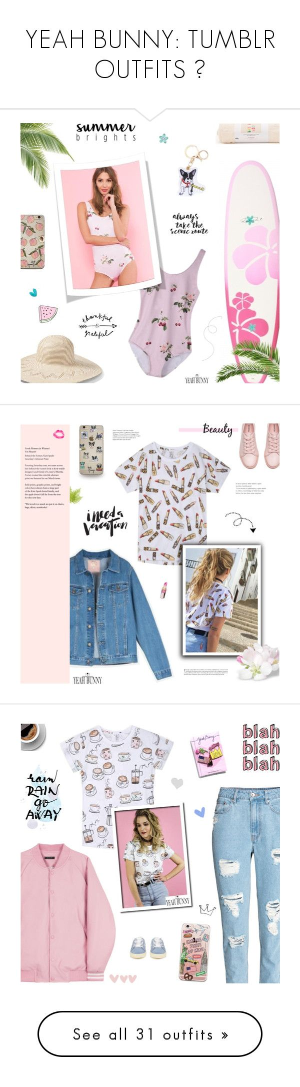 """YEAH BUNNY: TUMBLR OUTFITS 🐰"" by paradiselemonade ❤ liked on Polyvore featuring BB Dakota, ban.do, Hinge, Yeah Bunny, tumblr, YeahBunny, Gucci, ZAK, GUSTA and Topshop"