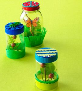Fun Kids Craft: Bug Jars:  This fun kids craft provides the perfect place for bug-loving kids to safely study their insect friends. countrywomanmagazine.com