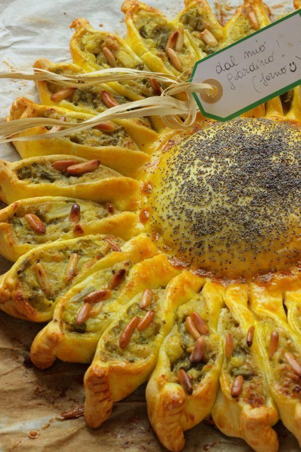 girasole salatoGirasole salato Ingredienti 2 confezioni di pasta brisè tonde…
