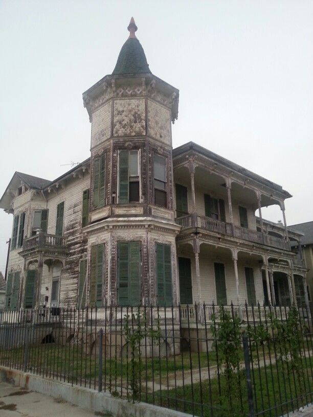 Not far from Pearland, this house in Galveston has been investigated by paranormal investigators and have made contact with spirits..... Youtube.com