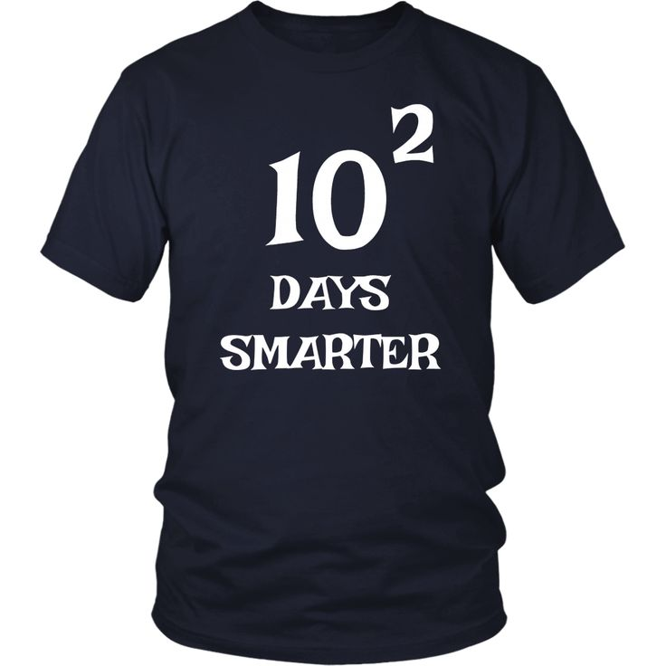 10 Squared Is 100 Days Smarter T-shirt Funny Math 100th Day – Bornmay