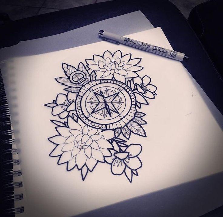 Lotus Flower Bomb Tattoo