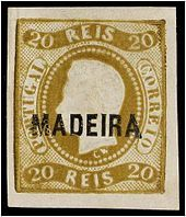 postage stamps from portugal | The first stamp of Madeira, overprint on a stamp of Portugal, 1868. 20 ..