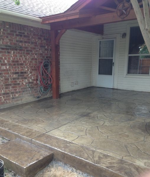 Gray Stamped Patio N. Plano