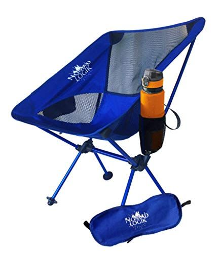 Nomad Logik blue <b>lightweight camping</b> chairs with built-in bevy ...