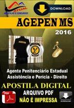 Apostila Digital Agepen MS Agente Penitenciario Estadual Assistencia e Pericia Direito 2016