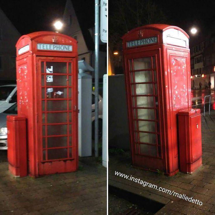 Trend Englische Telefonzelle in Schw bisch Gm nd Leider eingebaut von Parkautomat und Telekomschaltschrank telefon