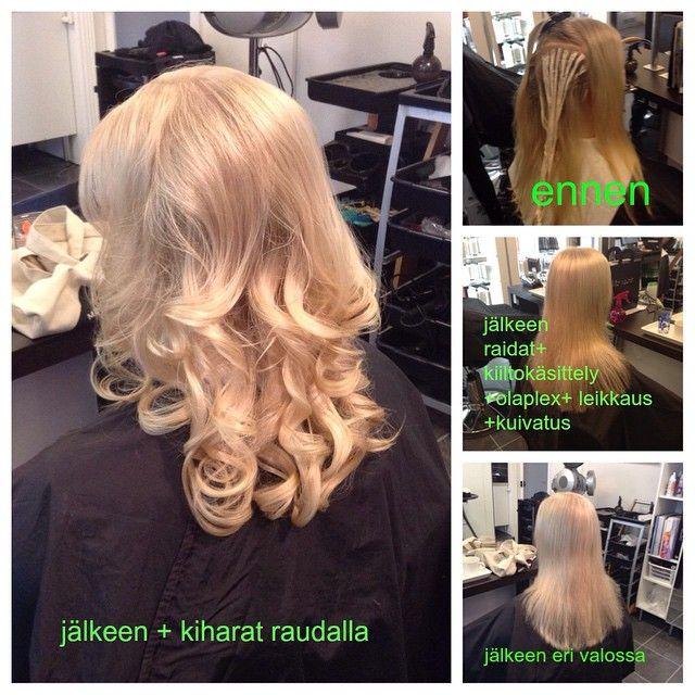 #olaplex #blond #longhair #curlyhair made By Sirpa Polvi