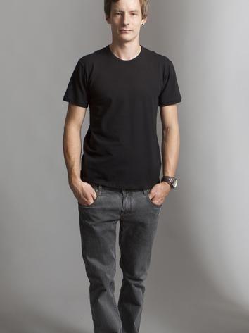 Simple black casual man t-shirt. Rock Café Fashion, Prague