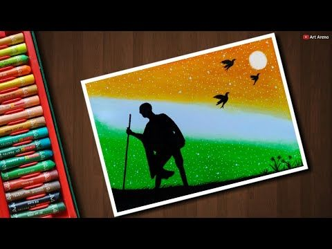 Independence Day Drawing For Beginners With Oil Pastels Step By