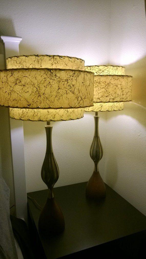 Mid Century Style 3 Tier Fiberglass Lamp Shade Retro Modern Etsy Lamp Shade Pendant Lamp Shade Antique Lamp Shades