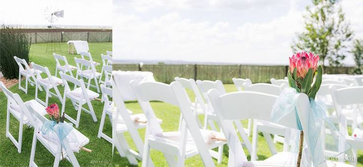 One of our first outdoor weddings at Makojalo