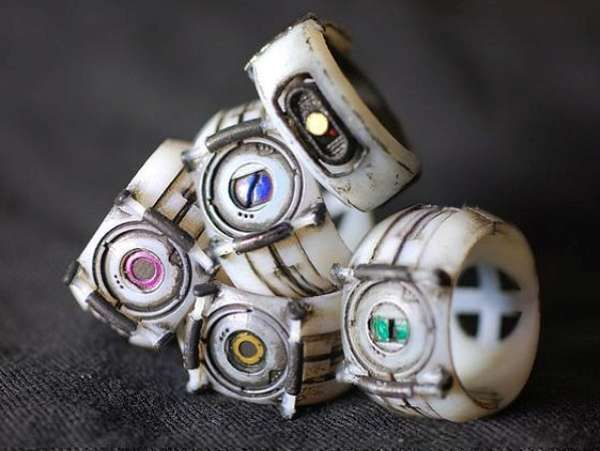 The Portal Personality Core Rings are Perfect for Girly Gamers trendhunter.com