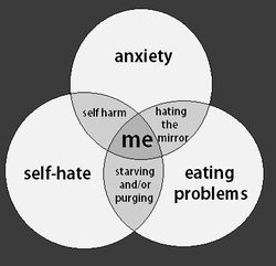Anxiety self harm starving cycle for people who are unable to cope.