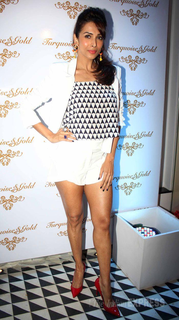 Malaika Arora Khan at Turqoise & Gold flagship store of the label in Bandra. ***