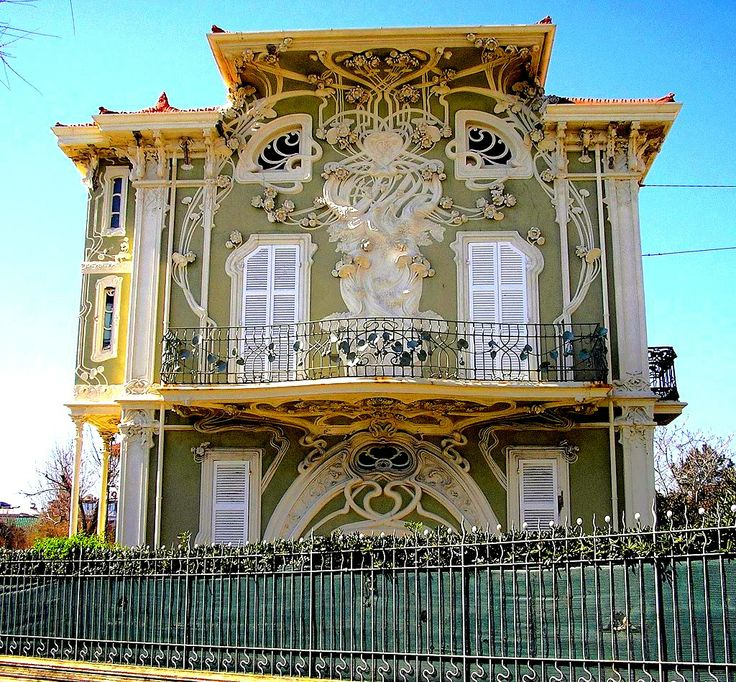 Villino Ruggeri, Pesaro, Italy. Built between 1904 and 1908 by architect Giuseppe Brega. The Italians call this style Stile Liberty (after the English store Liberty of London), their name for Art Nouveau \ JV